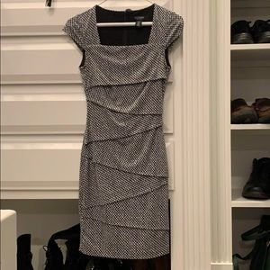 WHBM black and white dress